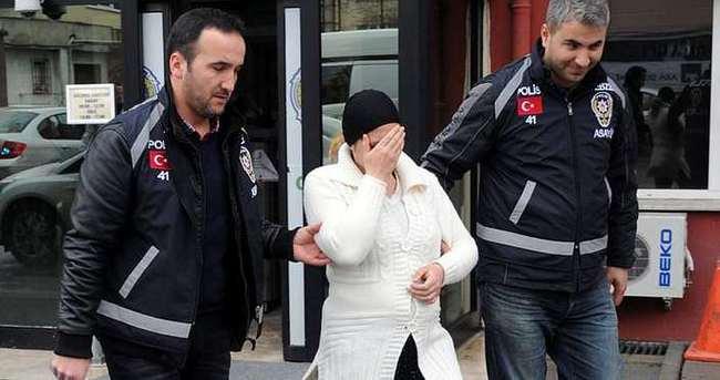Hırsızlık için eve giren hamile kadın yakalandı