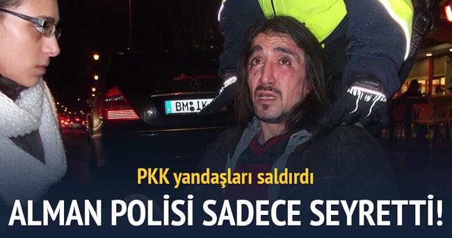 Terör örgütü yandaşları Köln'de bir Türk'e saldırdı
