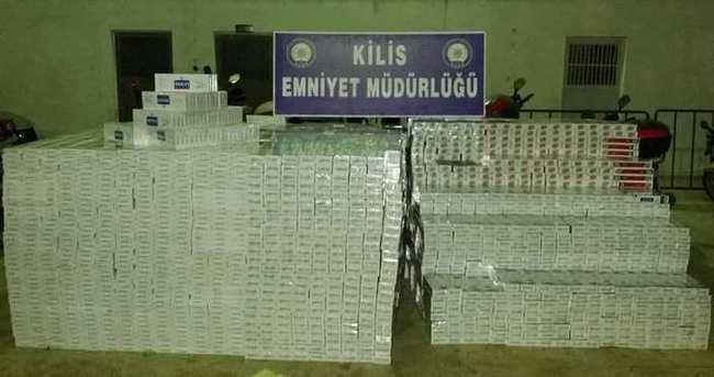 Evde 68 bin 280 paket kaçak sigara ele geçirildi