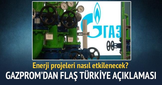 Gazprom'dan flaş Türkiye açıklaması