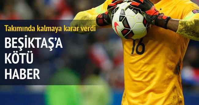 Mandanda'dan Beşiktaş'a kötü haber