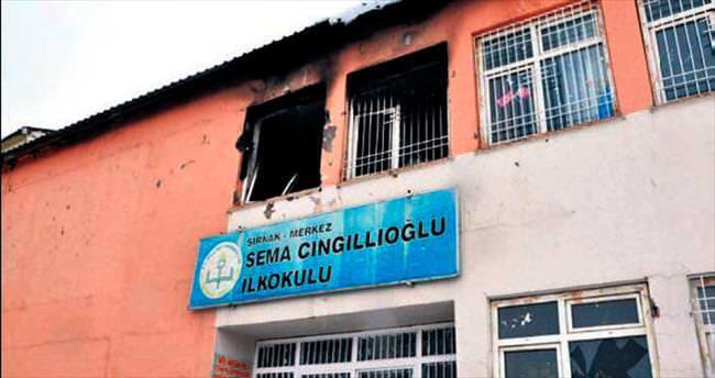 Yine okul ve hastane yaktılar