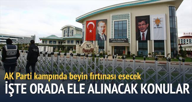 AK Parti kampında beyin fırtınası esecek