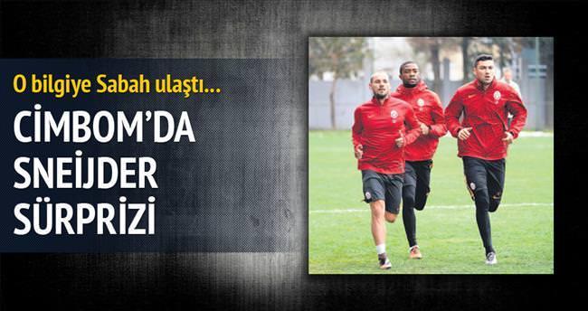 Sneijder sürprizi