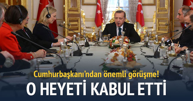 Erdoğan, ABD Senato üyelerini kabul etti