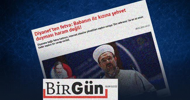 Birgün Gazetesi'nin Diyanet'ten fetva yalanı
