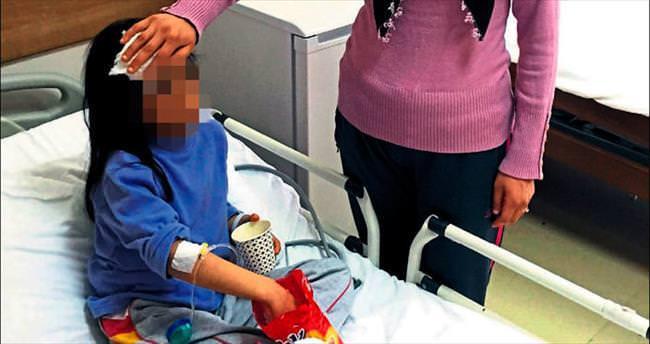 Üvey anne dayağı hastanelik etti