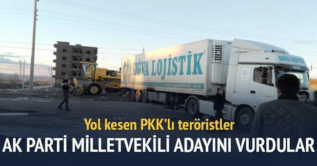 PKK'lılar AK Parti milletvekili adayını vurdu