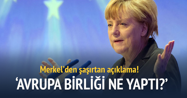 Merkel'den şaşırtan Türkiye açıklaması