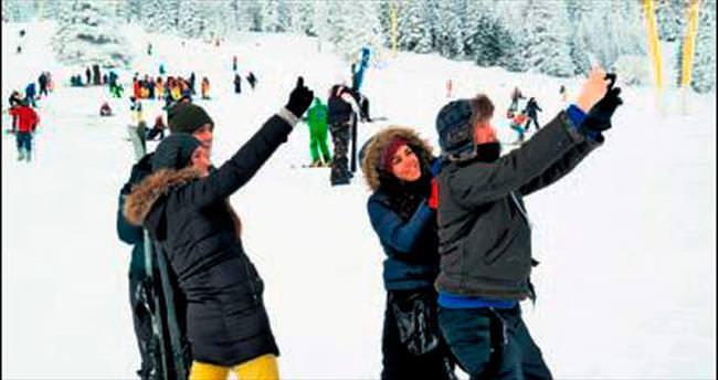 Beyaz cennette kayak keyfi