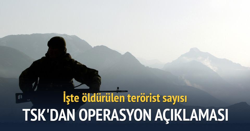 İşte öldürülen terörist sayısı