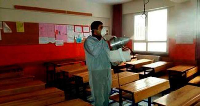 Eğitim yuvaları dezenfekte edildi