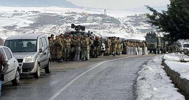Şırnak'a giden konvoya müdahale