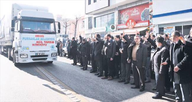 Türkmenler için yardım konvoyu yola çıkıyor