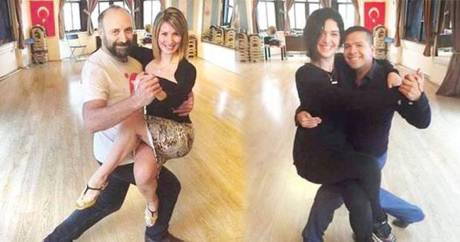 Bergüzar Korel ve Halit Ergenç tango dersi almaya başladı