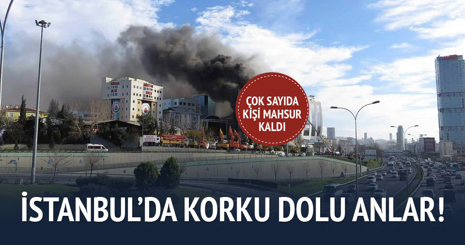 Maltepe'de korkutan yangın