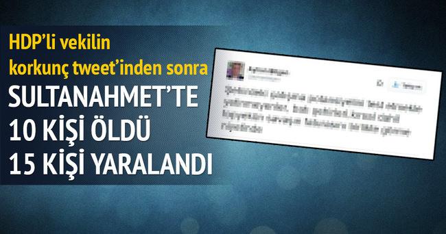 HDP'li vekilden korkunç patlama tweeti