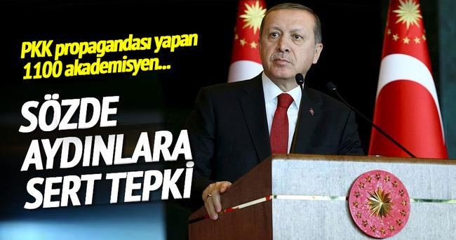 Erdoğan'dan sözde aydınlara sert tepki