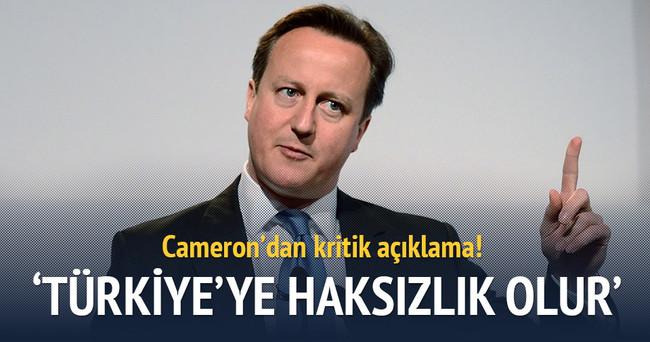 Cameron'dan kritik Türkiye açıklaması
