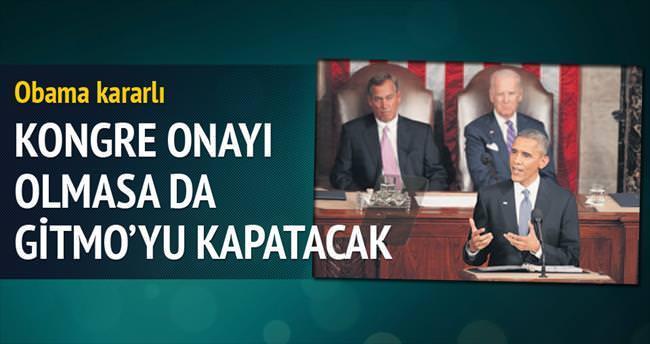 Obama, Kongre onayı olmasa da Gitmo'yu kapatacak