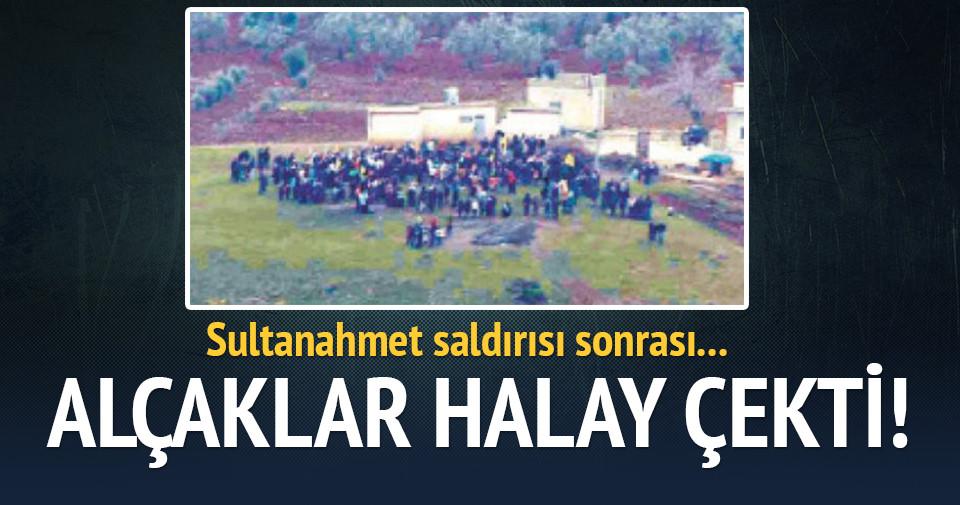 Sultanahmet saldırısı sonrası alçaklar halay çekti