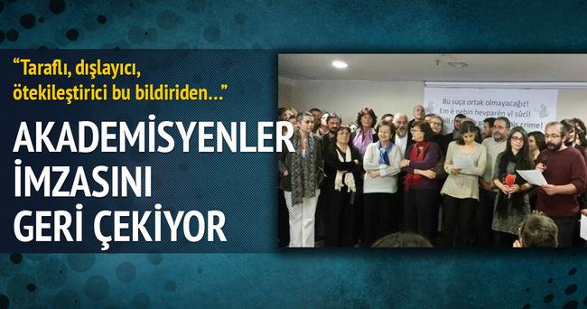 PKK'ya destek veren bildiriden imzasını çekti!