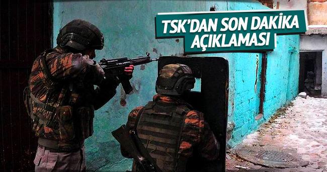 Cizre'de 9 PKK'lı terörist etkisiz hale getirildi