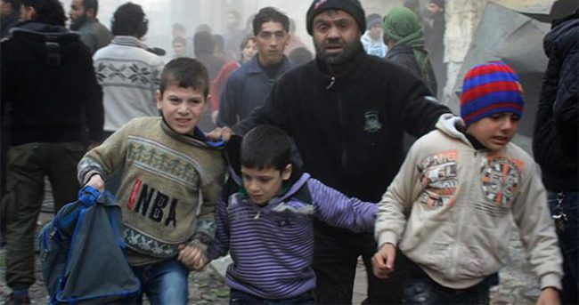Rus uçakları Halep'te anaokulunu vurdu, 3 çocuk öldü