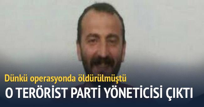 Öldürülen terörist DBP yöneticisi çıktı!