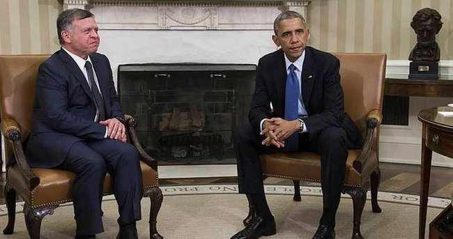 Obama, Ürdün Kralı Abdullah'la görüştü