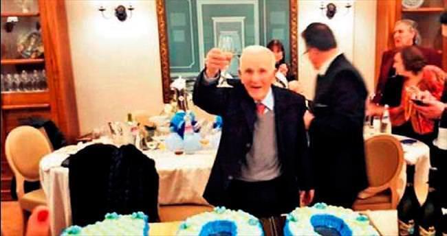 Mafya babasına 100. yaş pastası