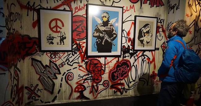 'The Art of Banksy' dünyada ilk kez İstanbul'da sergilendi