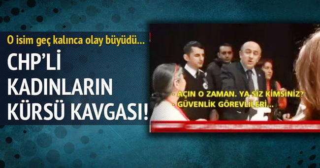 CHP Ankara Kadın Kolları Kongresi'nde gerginlik!