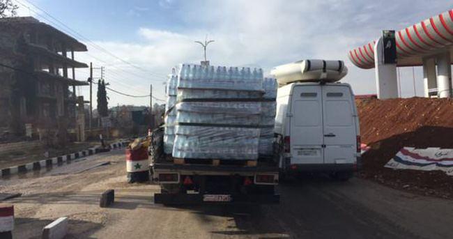 Yardım konvoyları Madaya'ya ulaştı