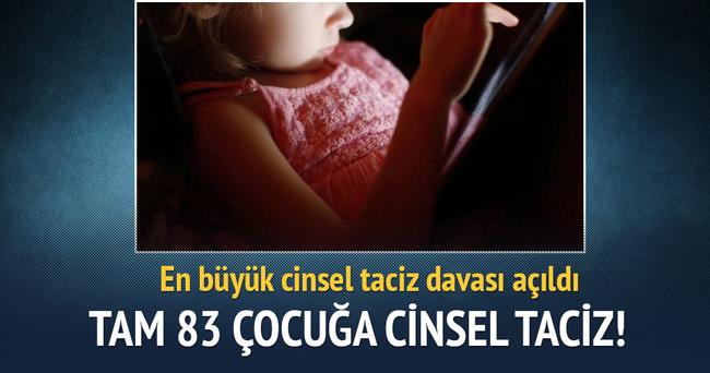 83 çocuğa cinsel tacizden yargılanıyor!