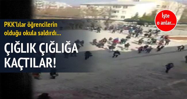 PKK'lılar okula saldırdı!