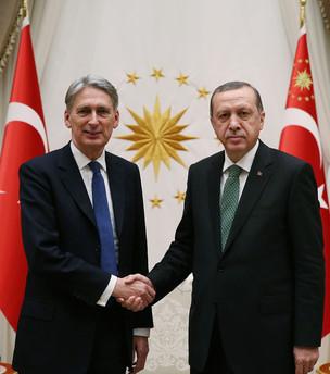 Cumhurbaşkanı Erdoğan, Hammond'u kabul etti