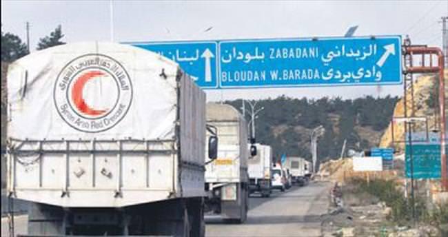 Madaya'ya 50 kamyon yardım daha