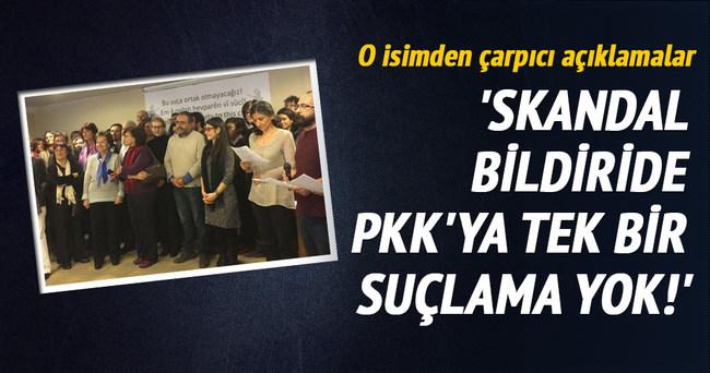 Skandal bildiride PKK'ya tek suçlama yok