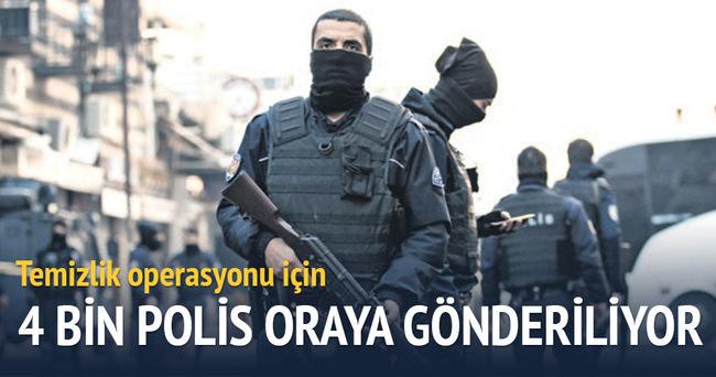 Terör bölgesine 4 bin polis gönderiliyor