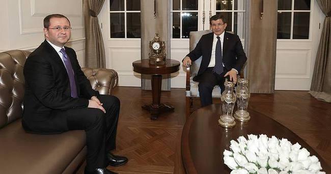 Davutoğlu, Şenol Kazancı'yı kabul etti