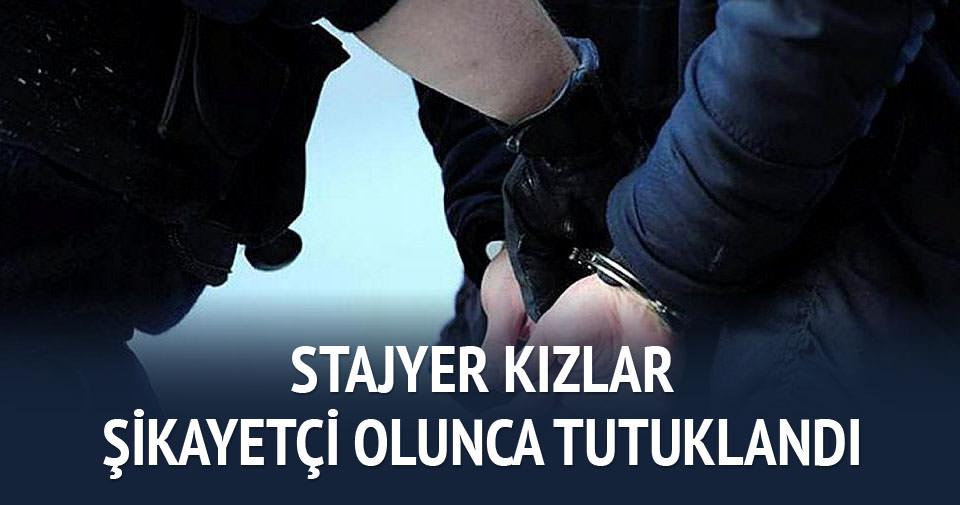 Stajyerleri taciz eden çalışan görevli tutuklandı