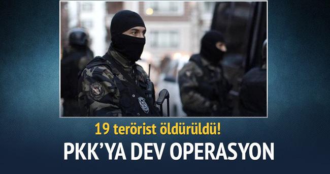 PKK'ya operasyon: 19 terörist öldürüldü