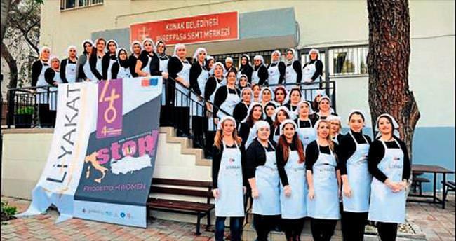 Pasta ustası kadınlara sertifika