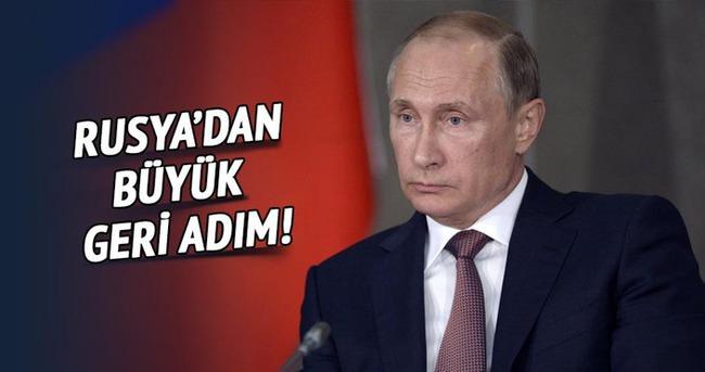 Rusya'dan büyük geri adım