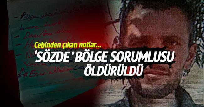 PKK'nın sözde 'bölge sorumlusu' etkisiz hale getirildi