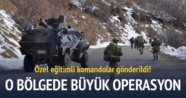 Tunceli'de büyük kış operasyonu başladı