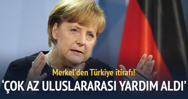 Merkel'den Türkiye itirafı!