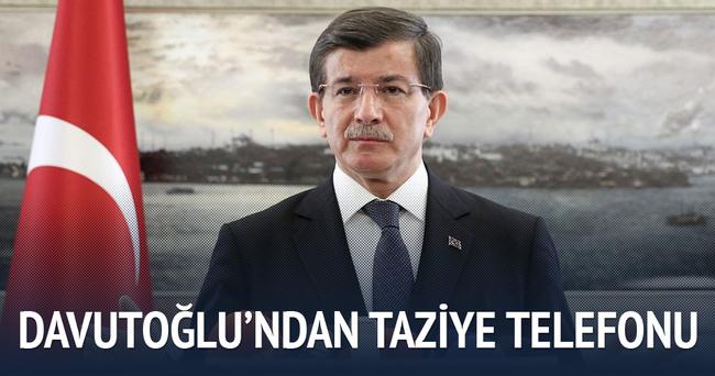 Davutoğlu'ndan şehit ailelerine taziye telefonu