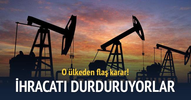 BAE petrol ihracatını durdurma sinyali verdi